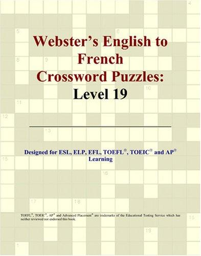 Download Webster's English to French Crossword Puzzles
