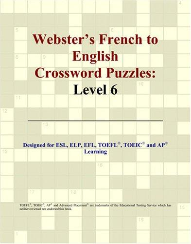 Webster's French to English Crossword Puzzles