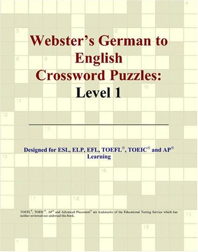 Download Webster's German to English Crossword Puzzles