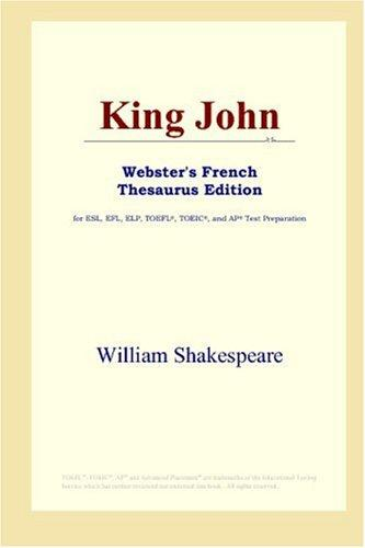 King John (Webster's French Thesaurus Edition)