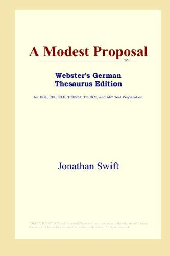 A Modest Proposal (Webster's German Thesaurus Edition)