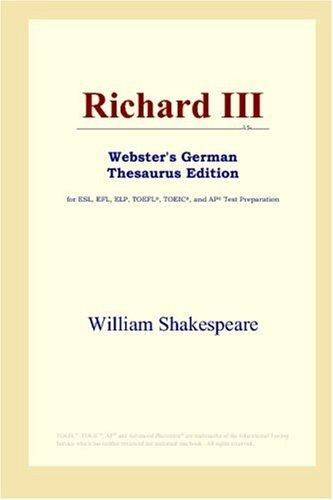 Download Richard III (Webster's German Thesaurus Edition)