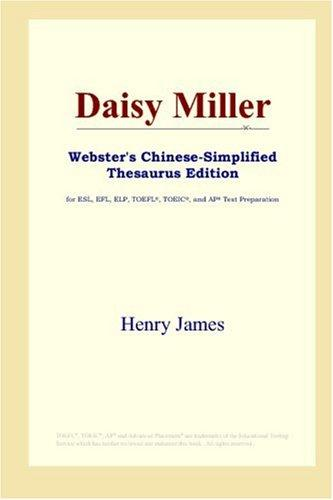 Daisy Miller (Webster's Chinese-Simplified Thesaurus Edition)