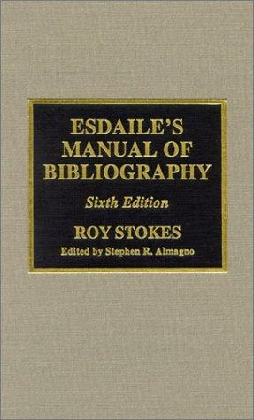 Download Esdaile's manual of bibliography
