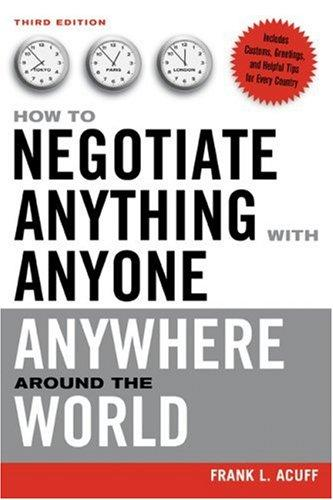 Download How to Negotiate Anything With Anyone Anywhere Around the World