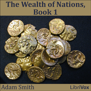 Wealth of Nations- Book 1(1756) by Adam Smith audiobook cover art image on Bookamo