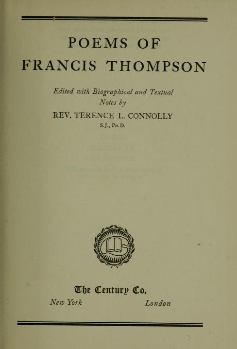 Poems of Francis Thompson by Francis Thompson
