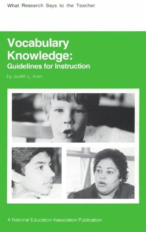 Vocabulary knowledge by Judith L. Irvin